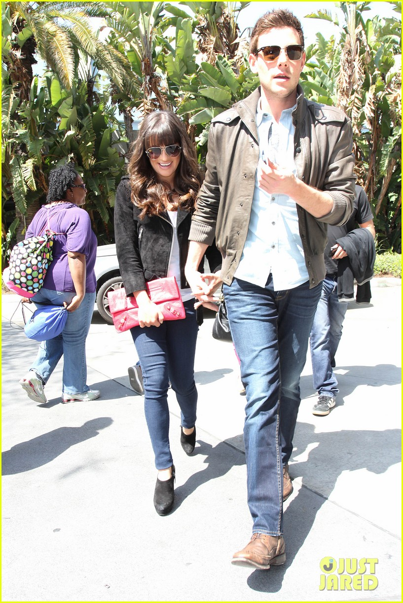 lea michele cory monteith kings game couple 102836376
