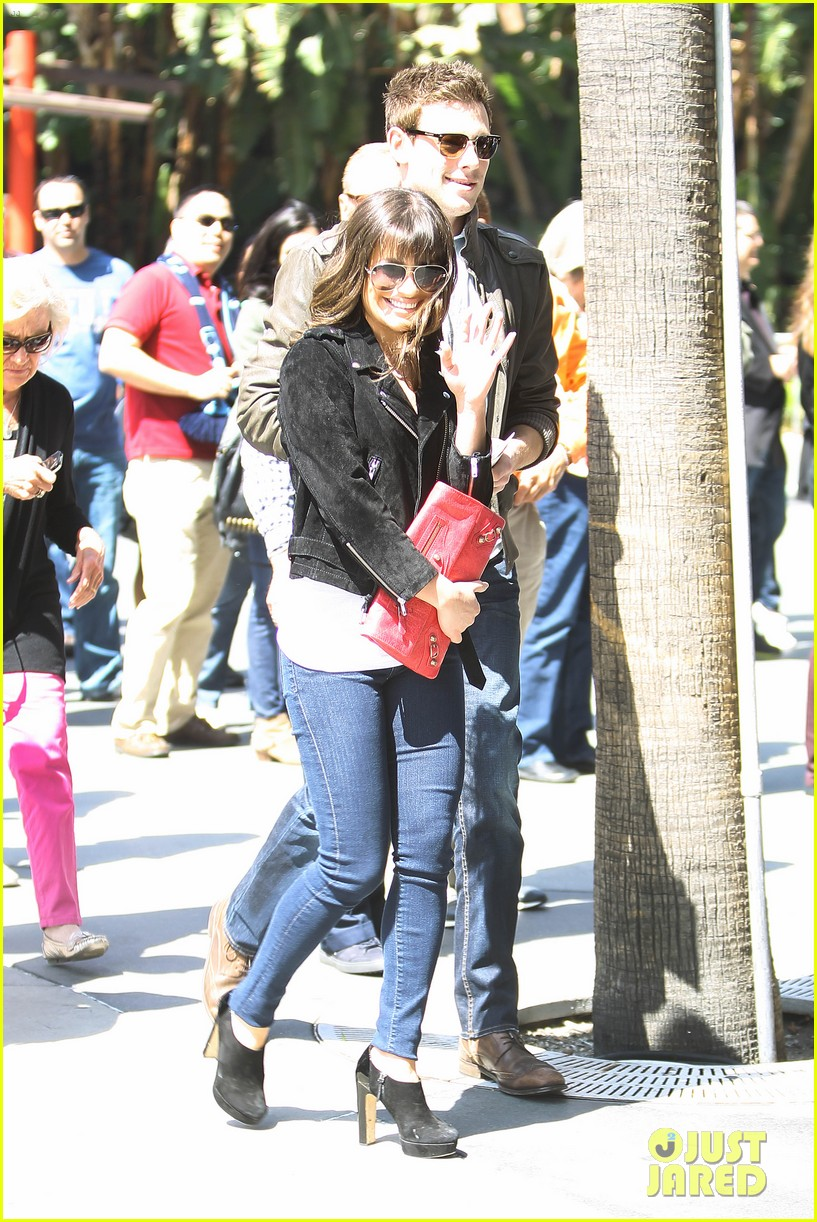 lea michele cory monteith kings game couple 152836381