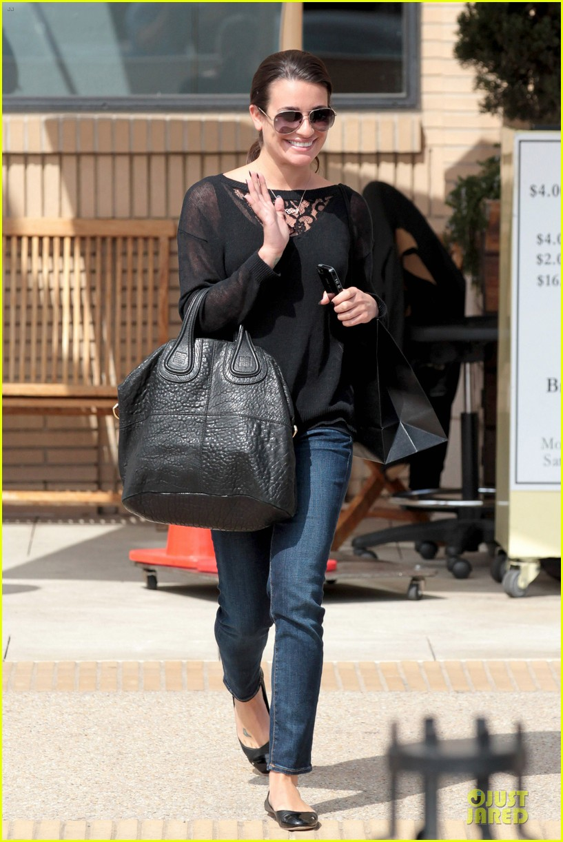 lea michele cory monteith necklace wearing gal 012834172