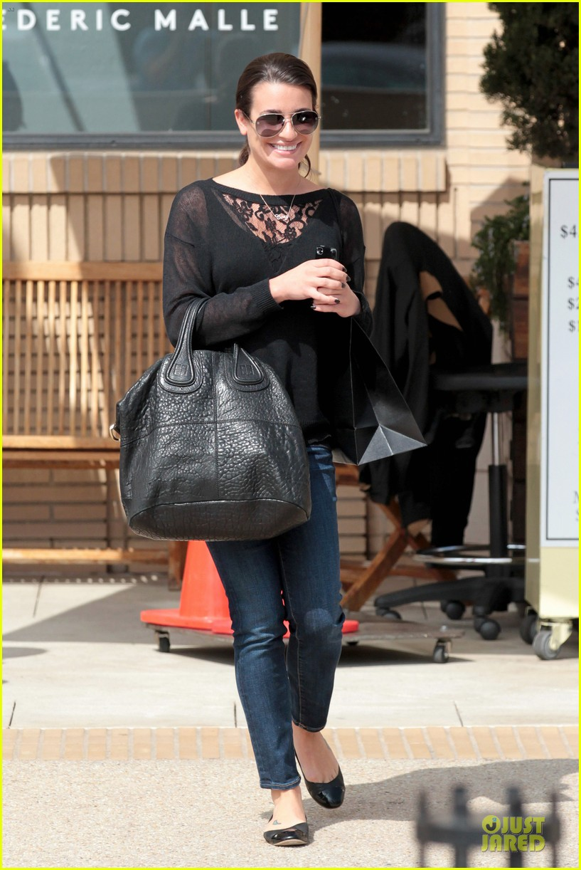 lea michele cory monteith necklace wearing gal 102834181