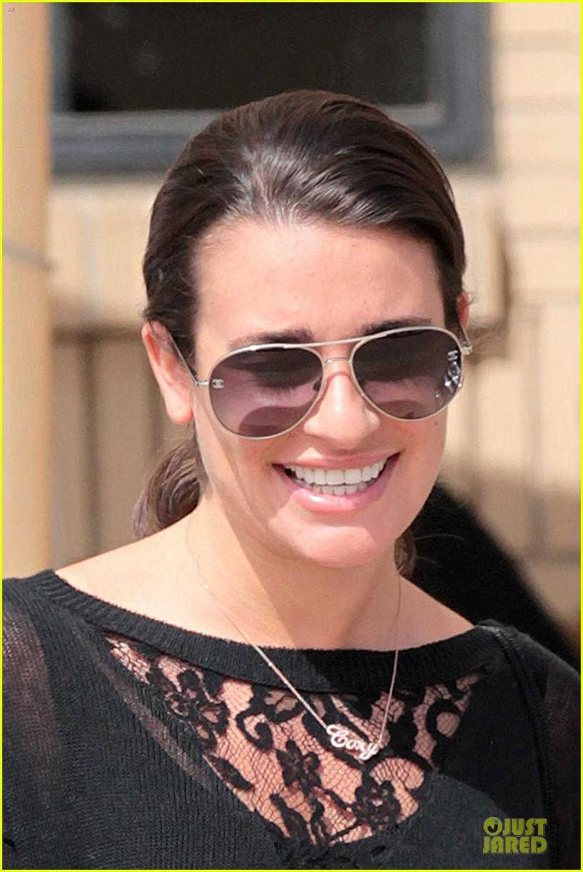 lea michele cory monteith necklace wearing gal 142834185