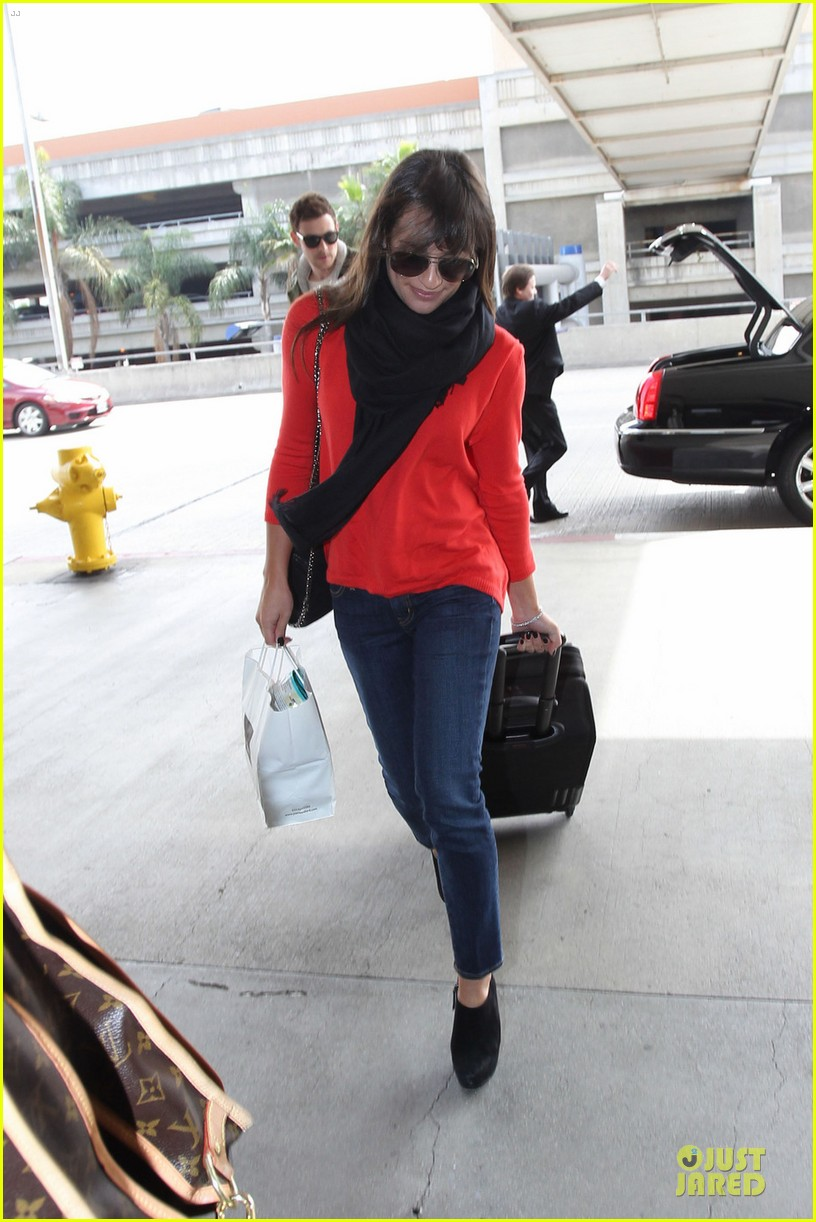 lea michele cory monteith new york flying couple 012825599