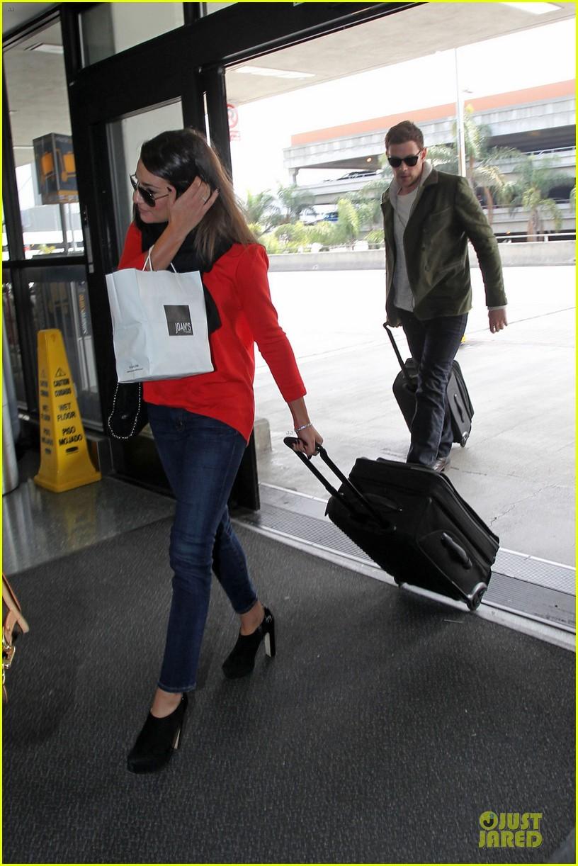 lea michele cory monteith new york flying couple 032825601