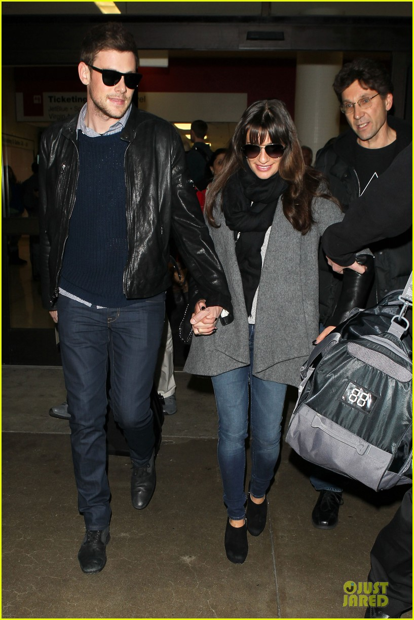 lea michele cory monteith snowy new york departure 042827689