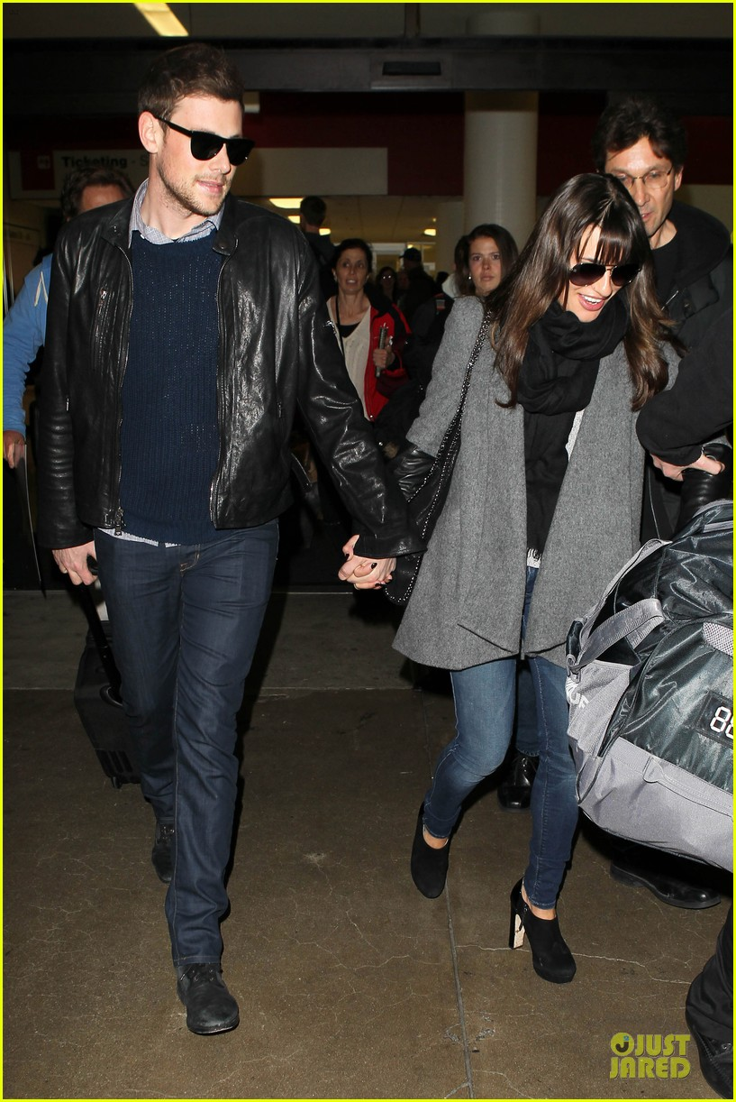 lea michele cory monteith snowy new york departure 052827690