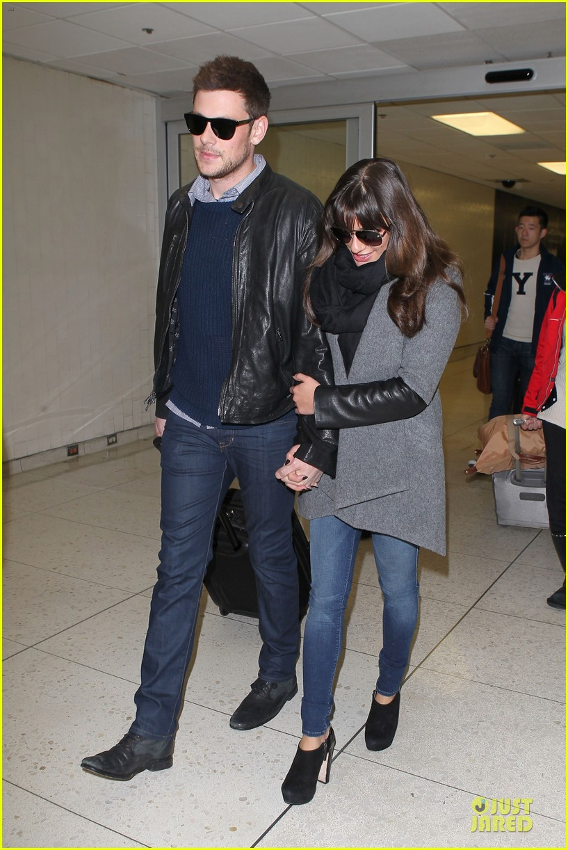 lea michele cory monteith snowy new york departure 062827691