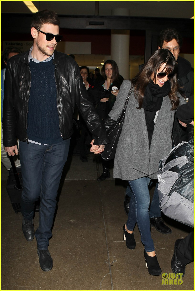 lea michele cory monteith snowy new york departure 102827695