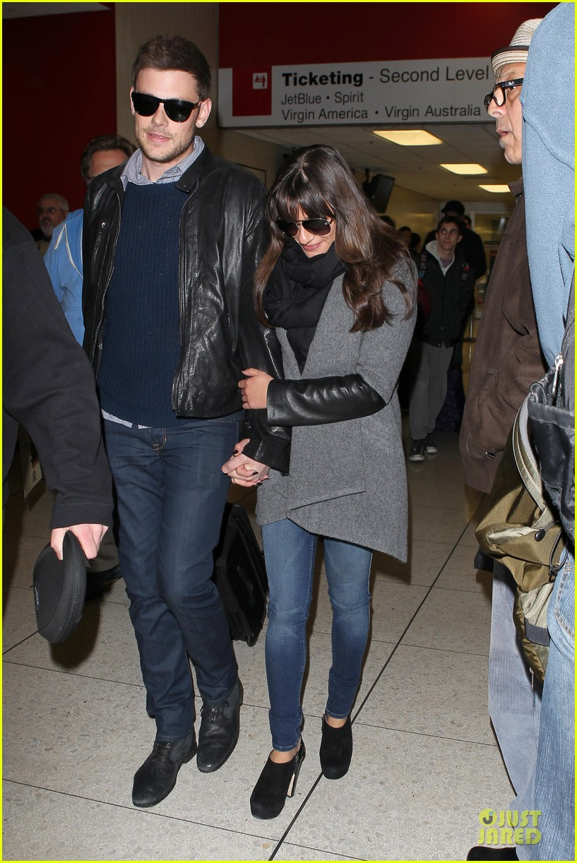 lea michele cory monteith snowy new york departure 122827697