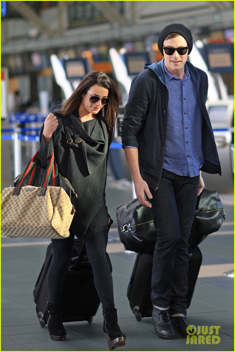 lea michele cory monteith from vancouver to l a 012833302