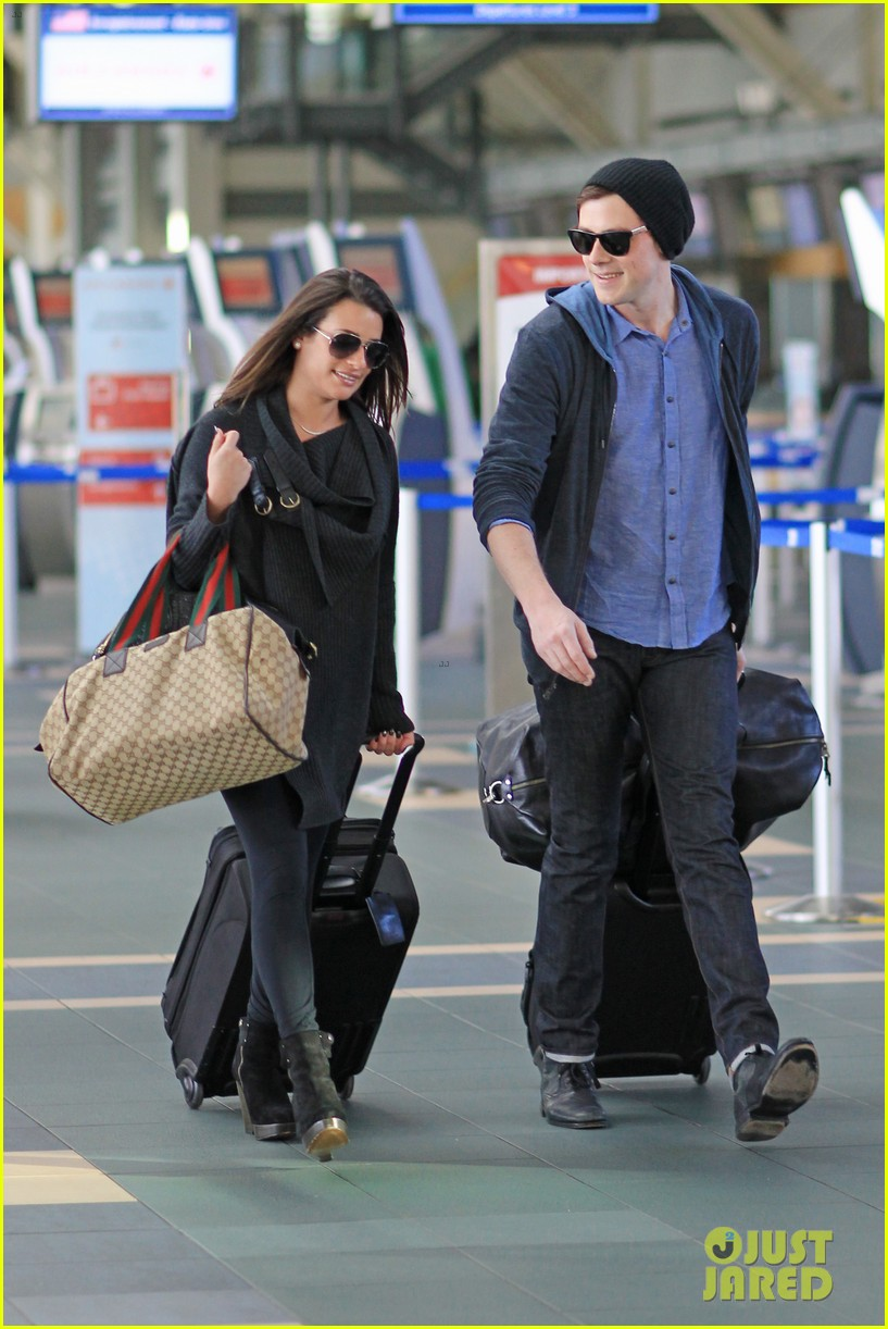 lea michele cory monteith from vancouver to l a 032833304
