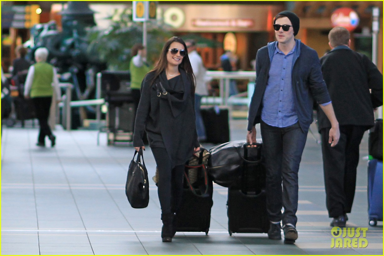 lea michele cory monteith from vancouver to l a 042833305