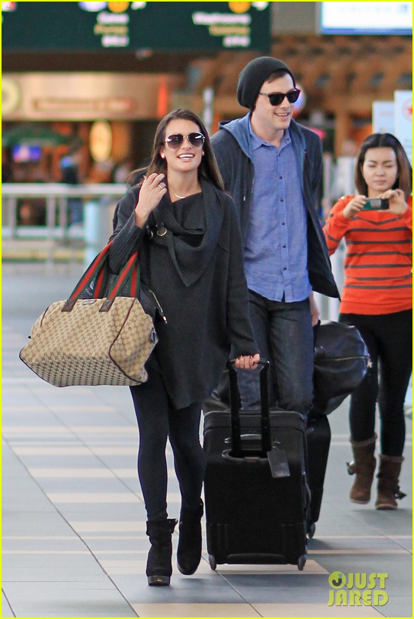 lea michele cory monteith from vancouver to l a 06