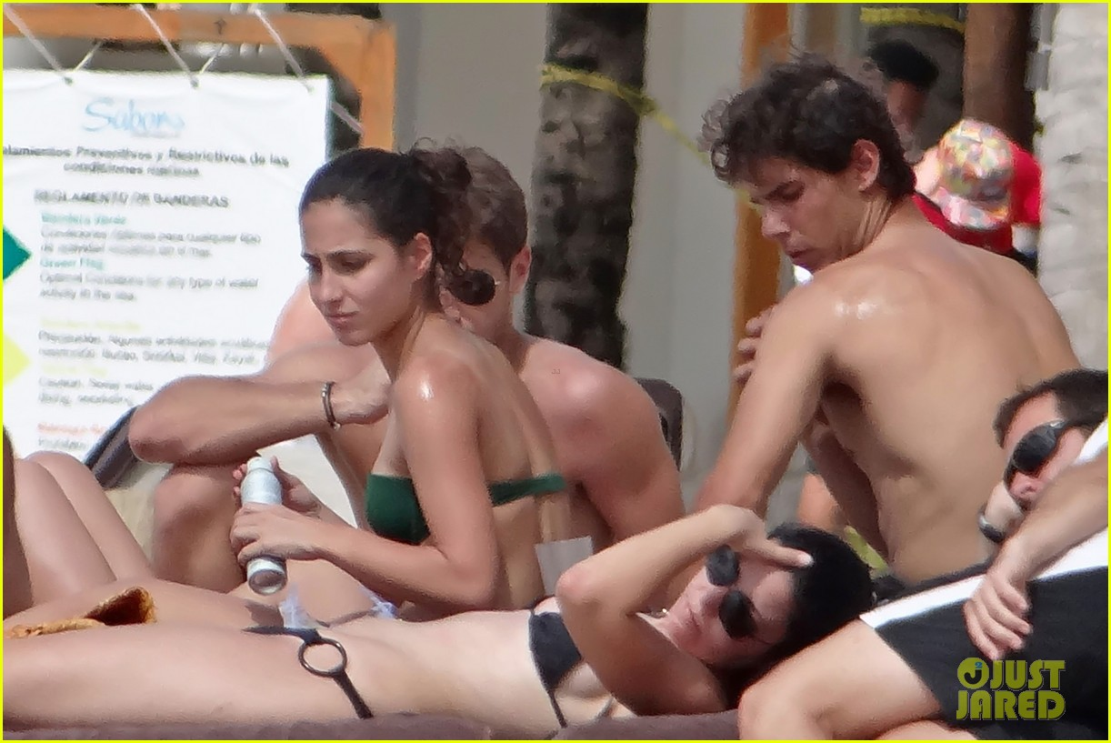 rafael nadal shirtless beach vacation with maria perrello 082826116