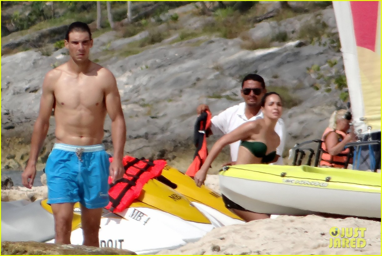 rafael nadal shirtless beach vacation with maria perrello 202826128