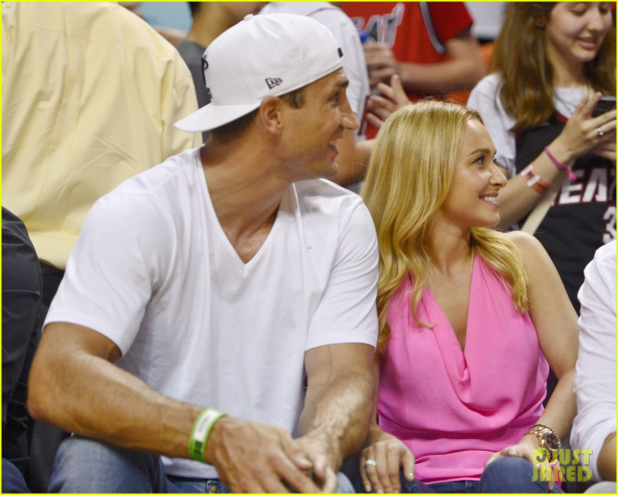 hayden panettiere miami heat game with wladimir klitschko 042837528