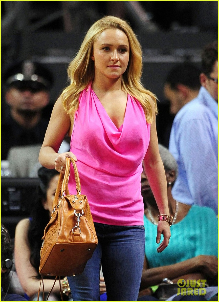 hayden panettiere miami heat game with wladimir klitschko 072837531