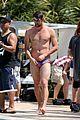 michael phelps shirtless speedo poolside afternoon 01