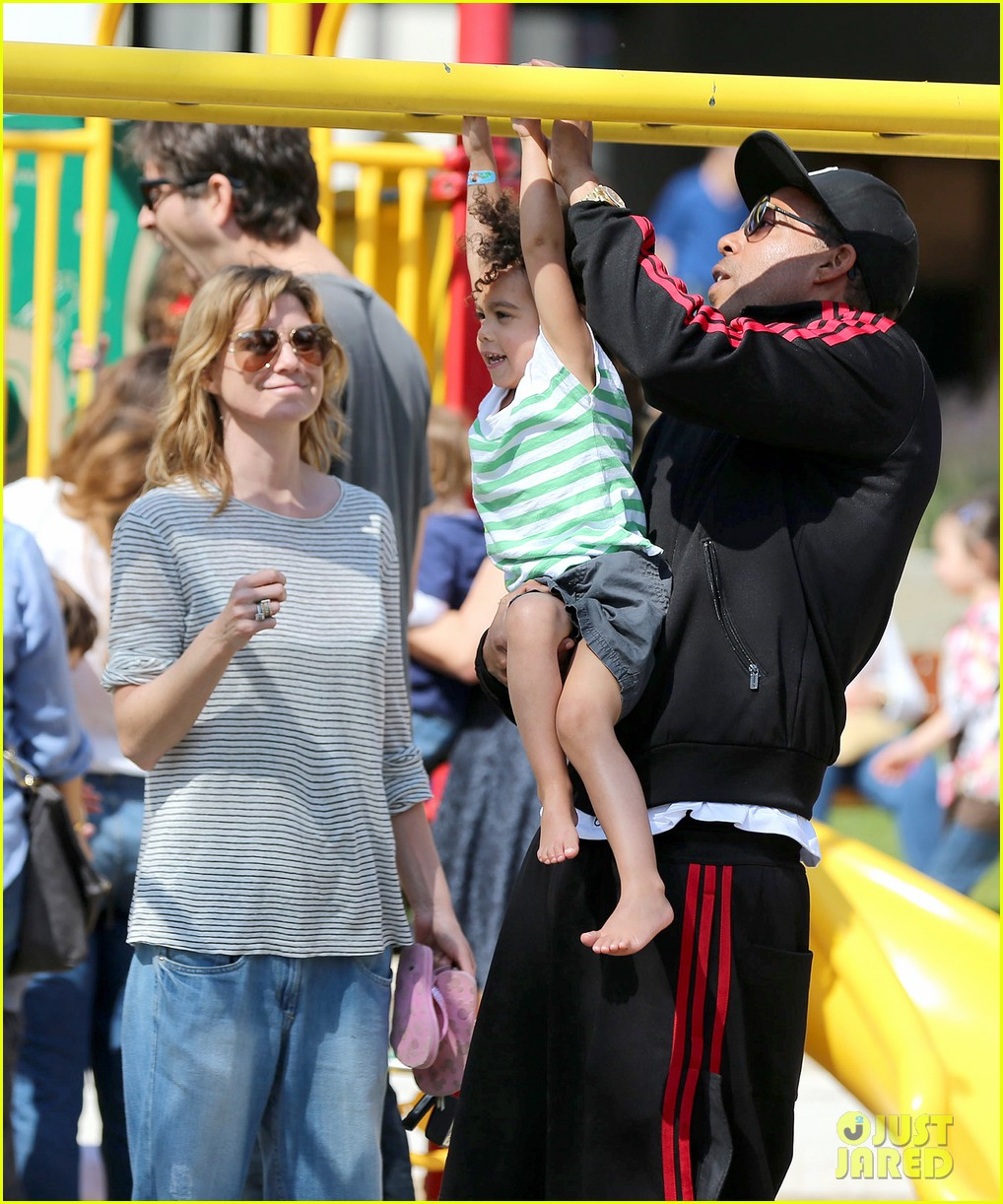 ellen pompeo monkeybars with stella 092837435