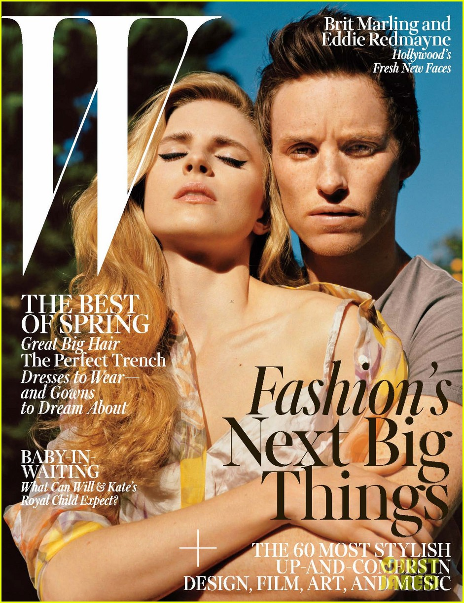 eddie redmayne brit marling cover w magazine april 2013 052832927