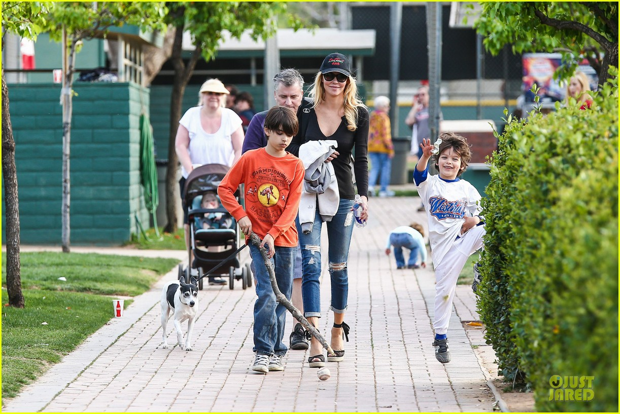 leann rimes eddie cibrian jake baseball game with brandi glanville 302824645