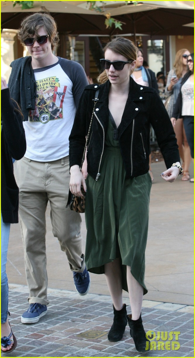 emma roberts evan peters the grove outing 072837521