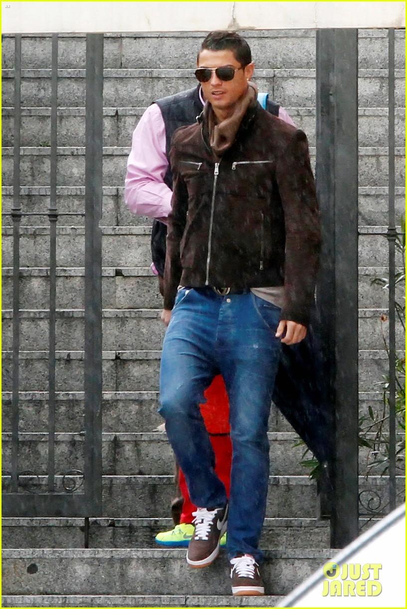 cristiano ronaldo rainy madrid day with cristiano jr 062826221
