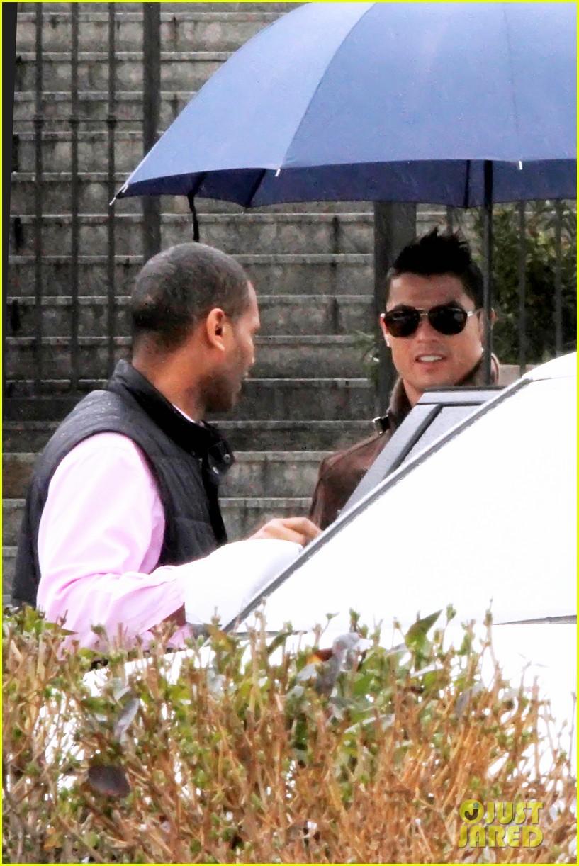 cristiano ronaldo rainy madrid day with cristiano jr 122826227