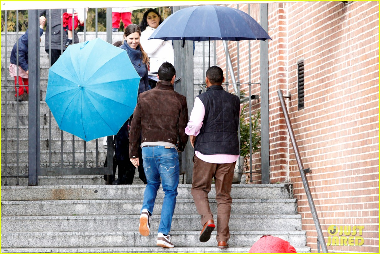 cristiano ronaldo rainy madrid day with cristiano jr 142826229