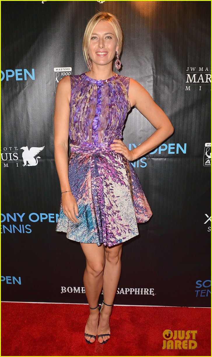 maria sharapova novak djokovic sony open player party 01