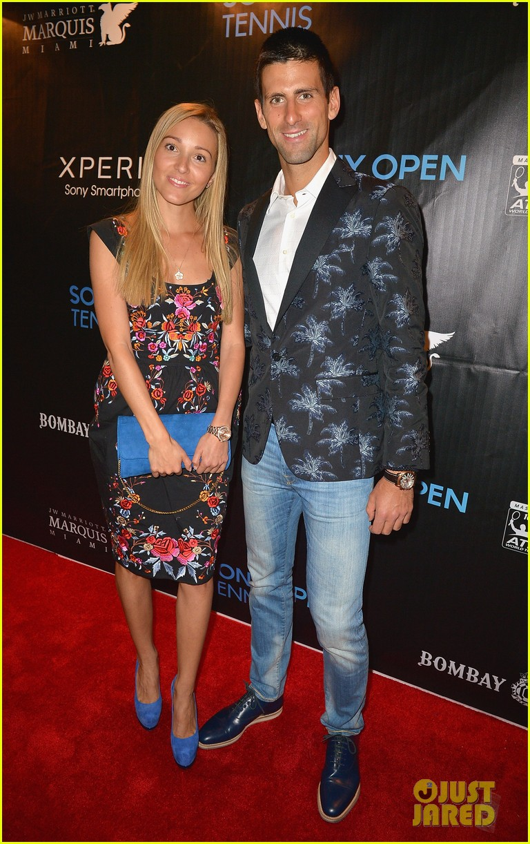 maria sharapova novak djokovic sony open player party 032834586