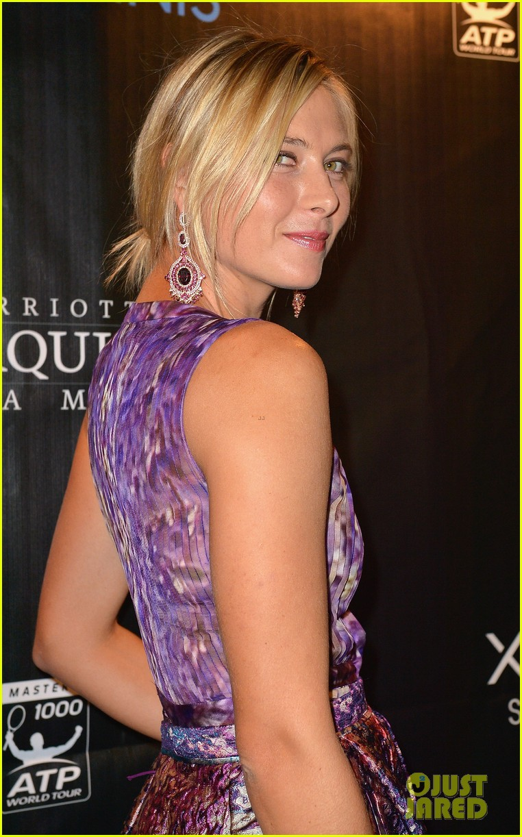 maria sharapova novak djokovic sony open player party 132834596