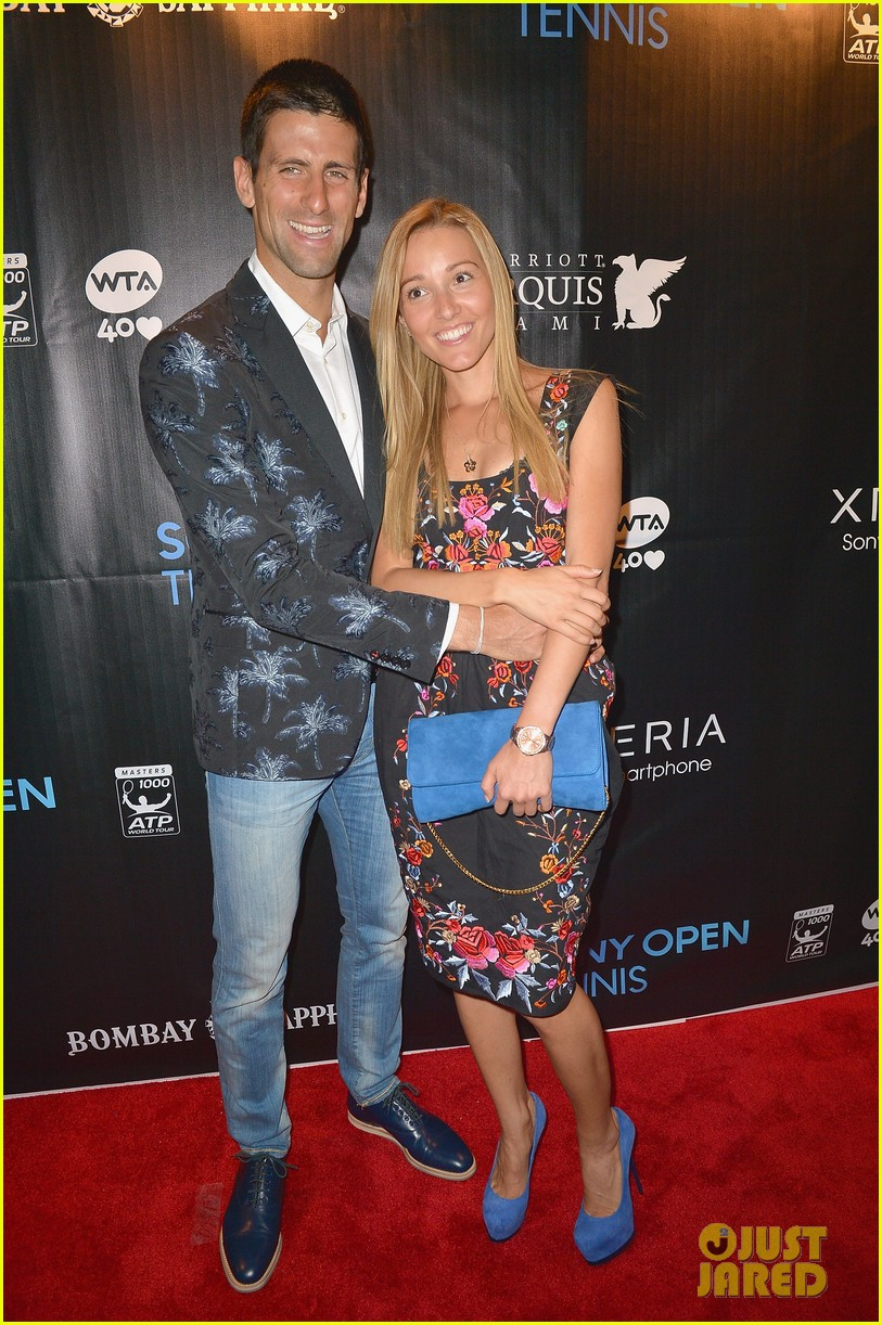 maria sharapova novak djokovic sony open player party 172834600