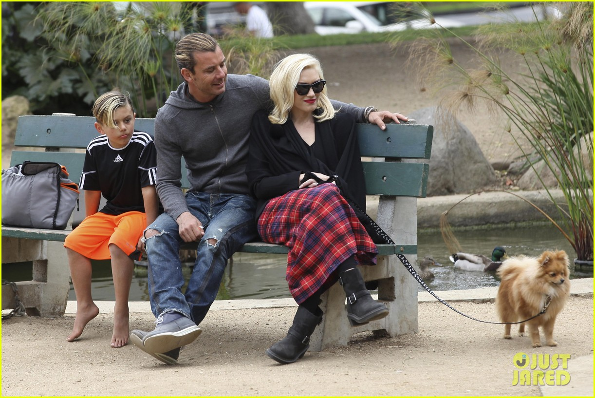 gwen stefani gavin rossdale park day with the boys 092840912