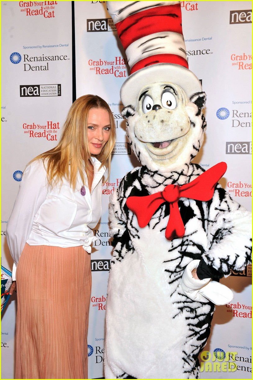 uma thurman cat in the hat for read across america day 082823503