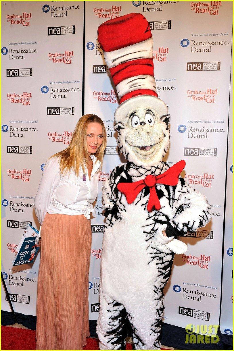 uma thurman cat in the hat for read across america day 112823506
