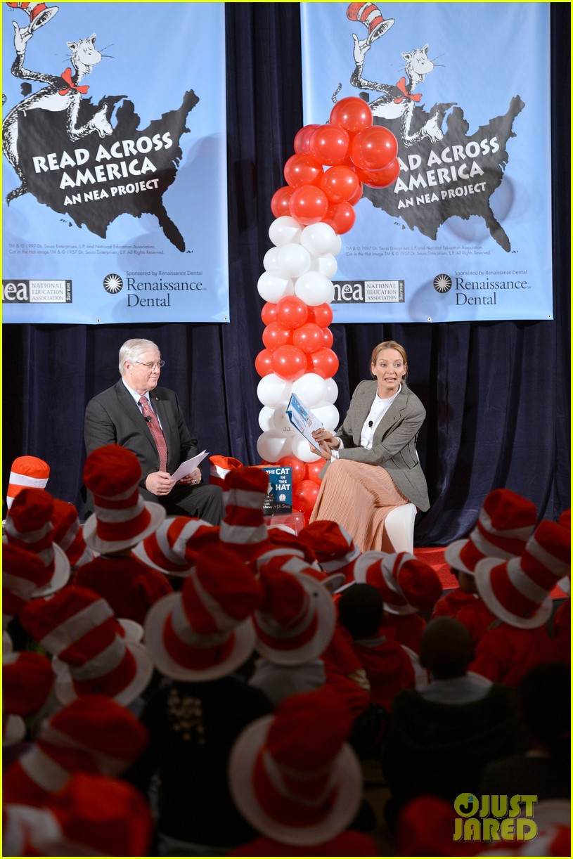 uma thurman cat in the hat for read across america day 16