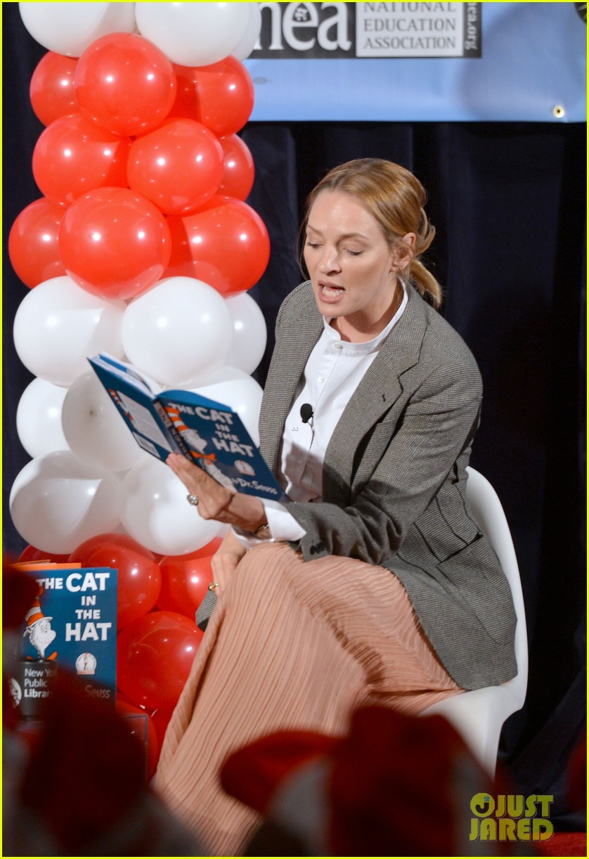 uma thurman cat in the hat for read across america day 172823512