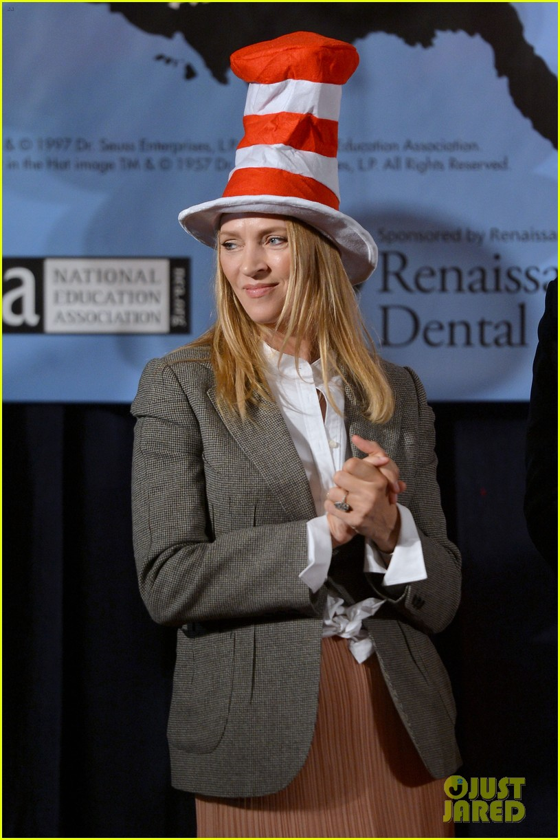 uma thurman cat in the hat for read across america day 20