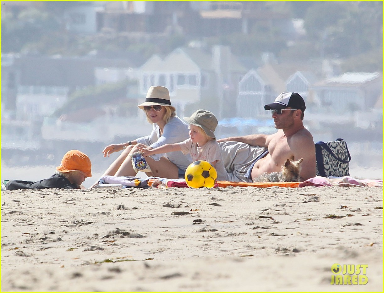naomi watts shirtless liev schreiber family beach day 172836804