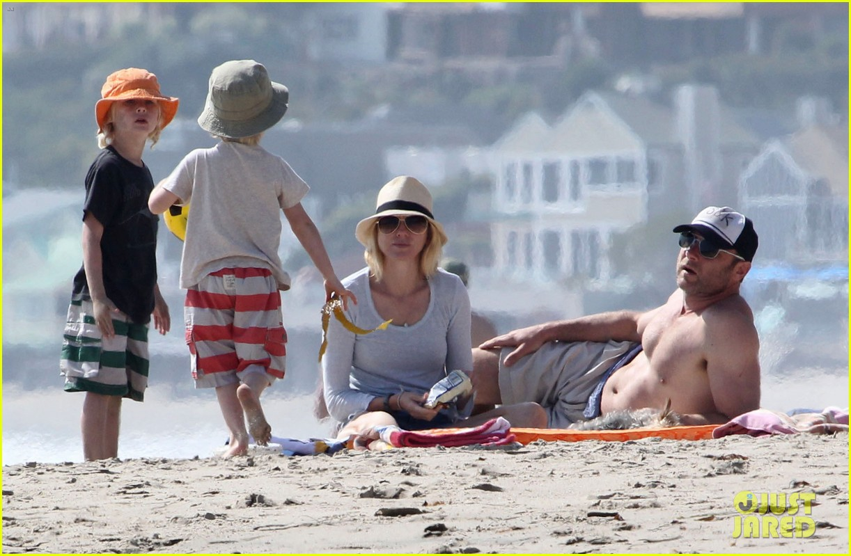 naomi watts shirtless liev schreiber family beach day 182836805