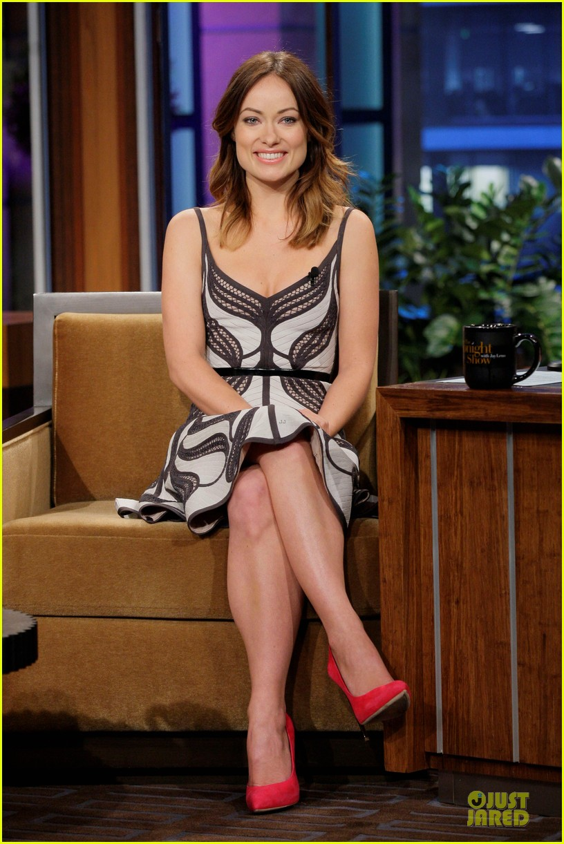 olivia wilde incredible burt wonderstone promo on leno 022829627