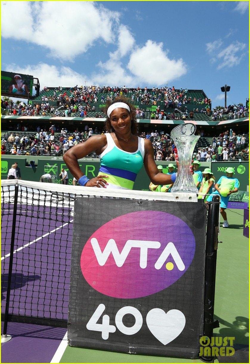 serena williams sony open victory portraits 082840676