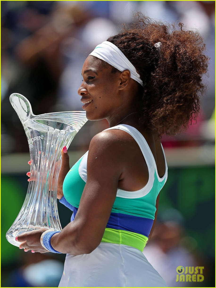 serena williams sony open victory portraits 172840685