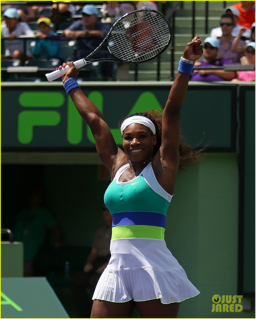 serena williams sony open victory portraits 182840686