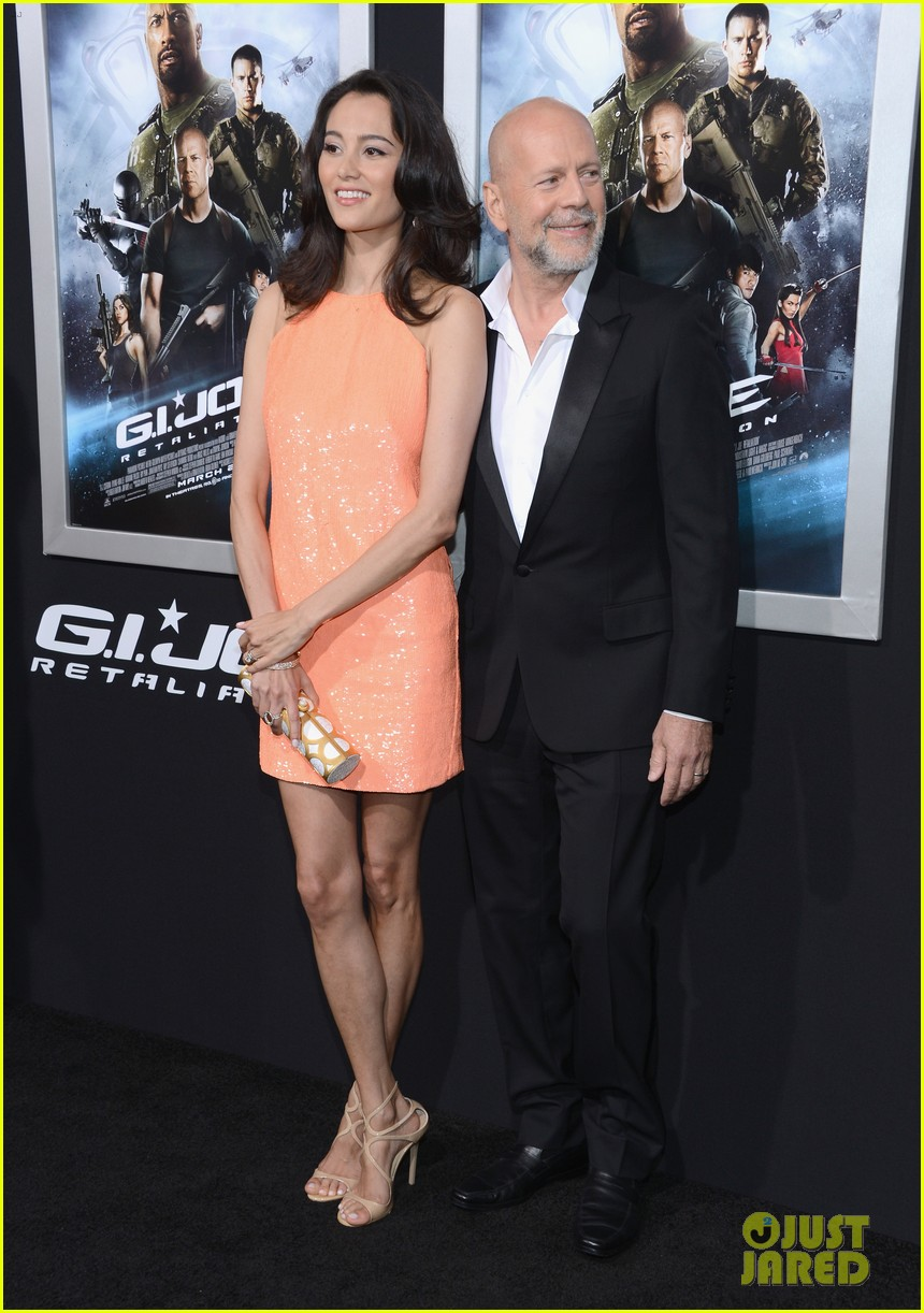 bruce willis gi joe premiere with rumer jayson blair 052839659