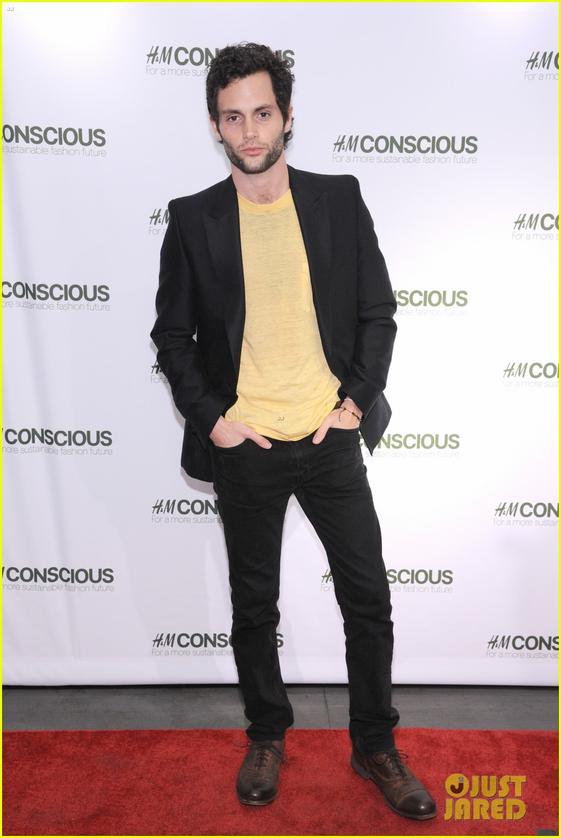 penn badgley victoria justice hm collection launches 112843576