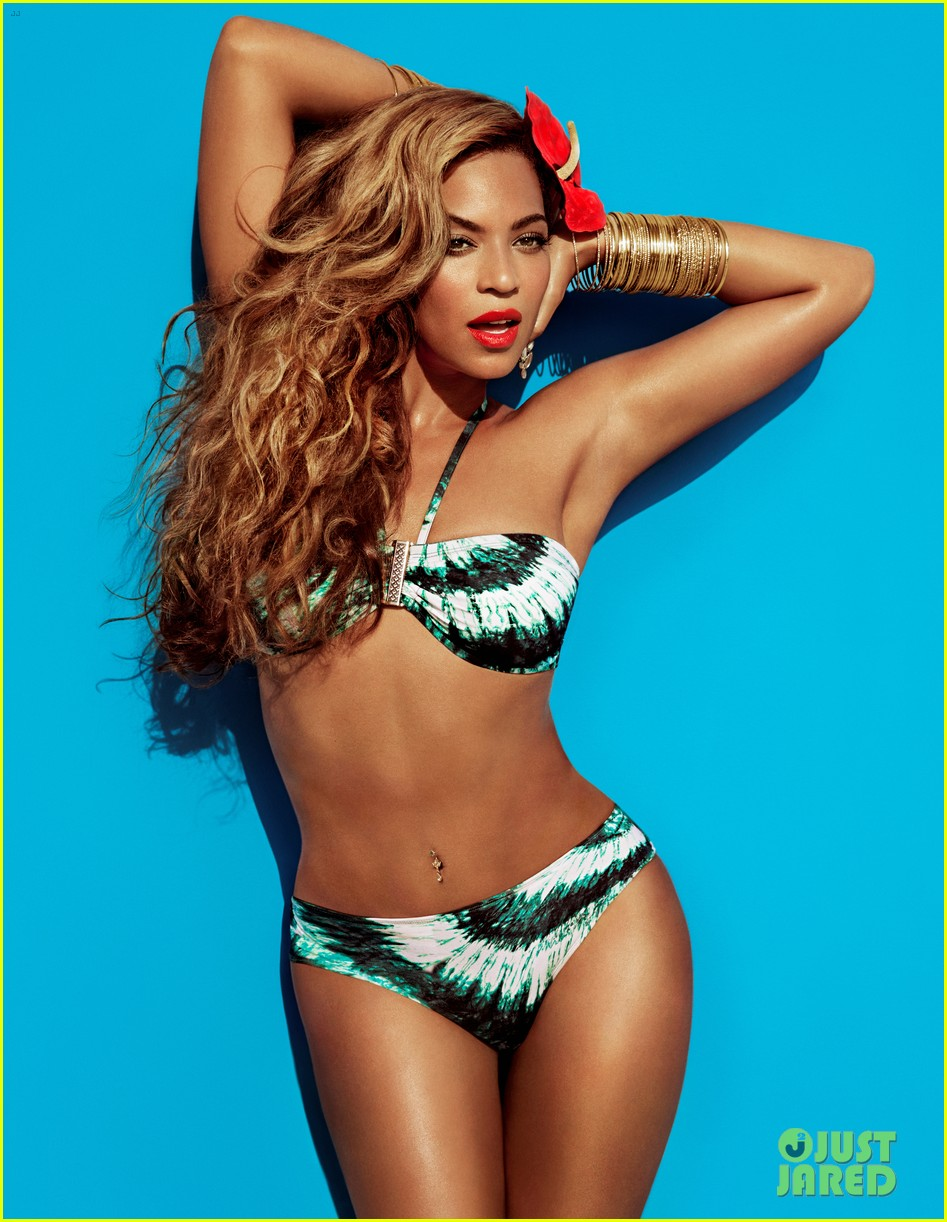 beyonce bikini photos for hm print campaign 032850659