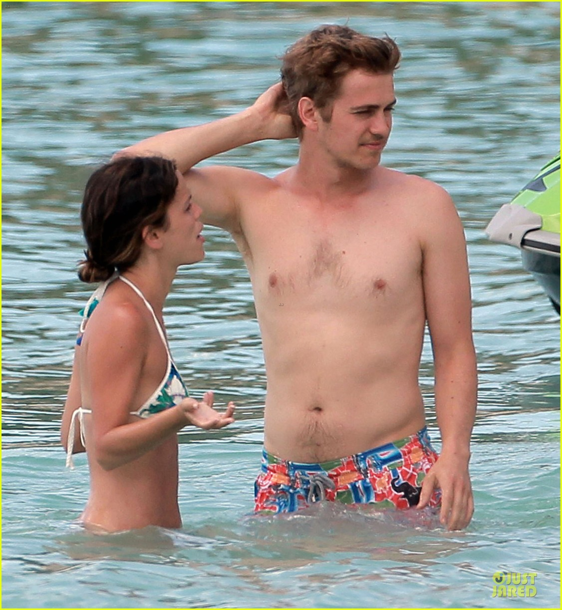 rachel bilson bikini barbados babe with shirtless hayden christensen 08