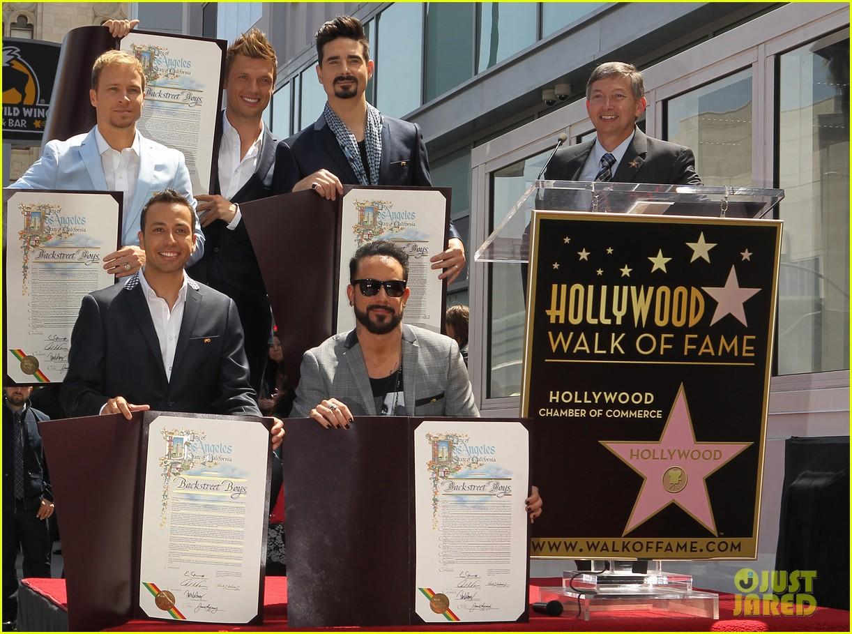 backstreet boys hollywood walk of fame ceremony 082855893