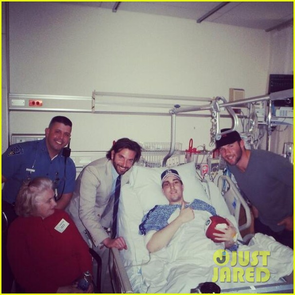 bradley cooper meets wounded boston bombing victim 012853531